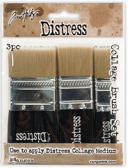 Distress Collage Brush Set x 3