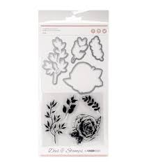 Rose Die & Stamp Set