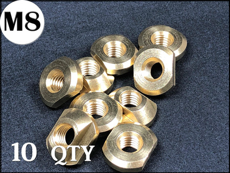 M8 Brass T-nuts Pack of 10