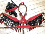 Red Glitter Fringe Tack Set