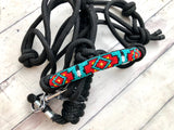 Red, Teal and Yellow Diamond Navajo Pattern Knot Halter