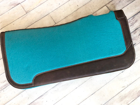 Teal Felt Bottom Saddle Pad