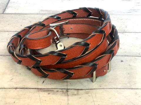 Leather Laced Barrel Reins