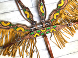 Sunflower Cactus Flower Fringe Tack Set