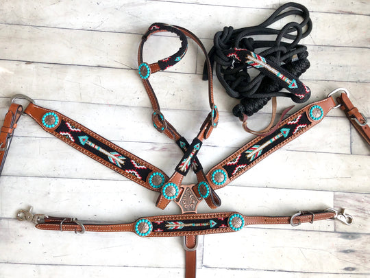 4 Piece Beaded Arrow Tack Set