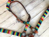 Rainbow Chevron Beaded Tack Set