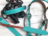 4 Piece Teal Glitter Tack Set