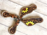 Sunflower Whip Stitch Spur Straps