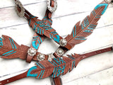 Leather Feather Cut-Out Tack Set