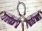 Purple Arctic Fringe Tack Set