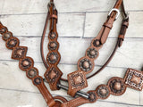 Copper Conchos Tack Set