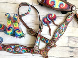 Tie Dye Concho Full Set with Stirrups