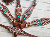 Beaded Navajo Mint Diamond Set
