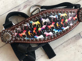 Pony Size Dancing Rainbow Unicorn Bronc Halter