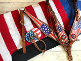 American Flag Full Tack Set with Saddle Pad