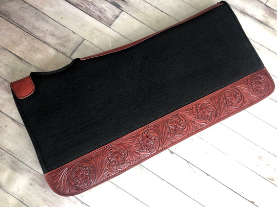 Floral Tooled Felt Bottom Saddle Pad