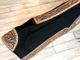 Floral Tooled, Praying Cowboy Inset Hair on Hide - Build Up Saddle Pad