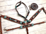 Red, Black, Teal Beaded Arrow Tack Set