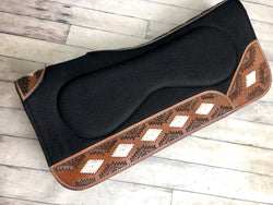 Southwestern Rawhide and Leather Build Up Saddle Pad