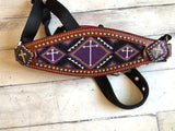 Purple Cross Beaded Bronc Halter