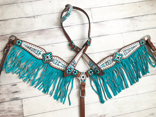 Arctic Design Teal Fringe Tack Set