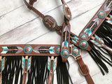 Leather Arrow Fringe Tack Set