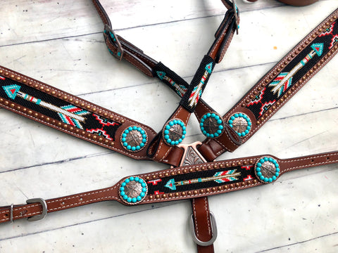 Arrow Beaded Wither Strap