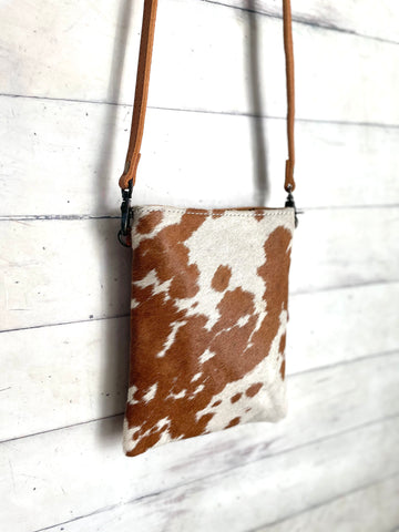 Tan Cowhide Carryall Leather Bag
