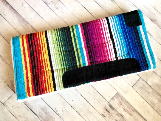 Woven Serape Fleece Bottom Saddle Pad