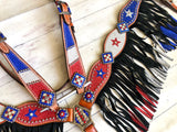 Red White & Blue Sparkle Tack Set