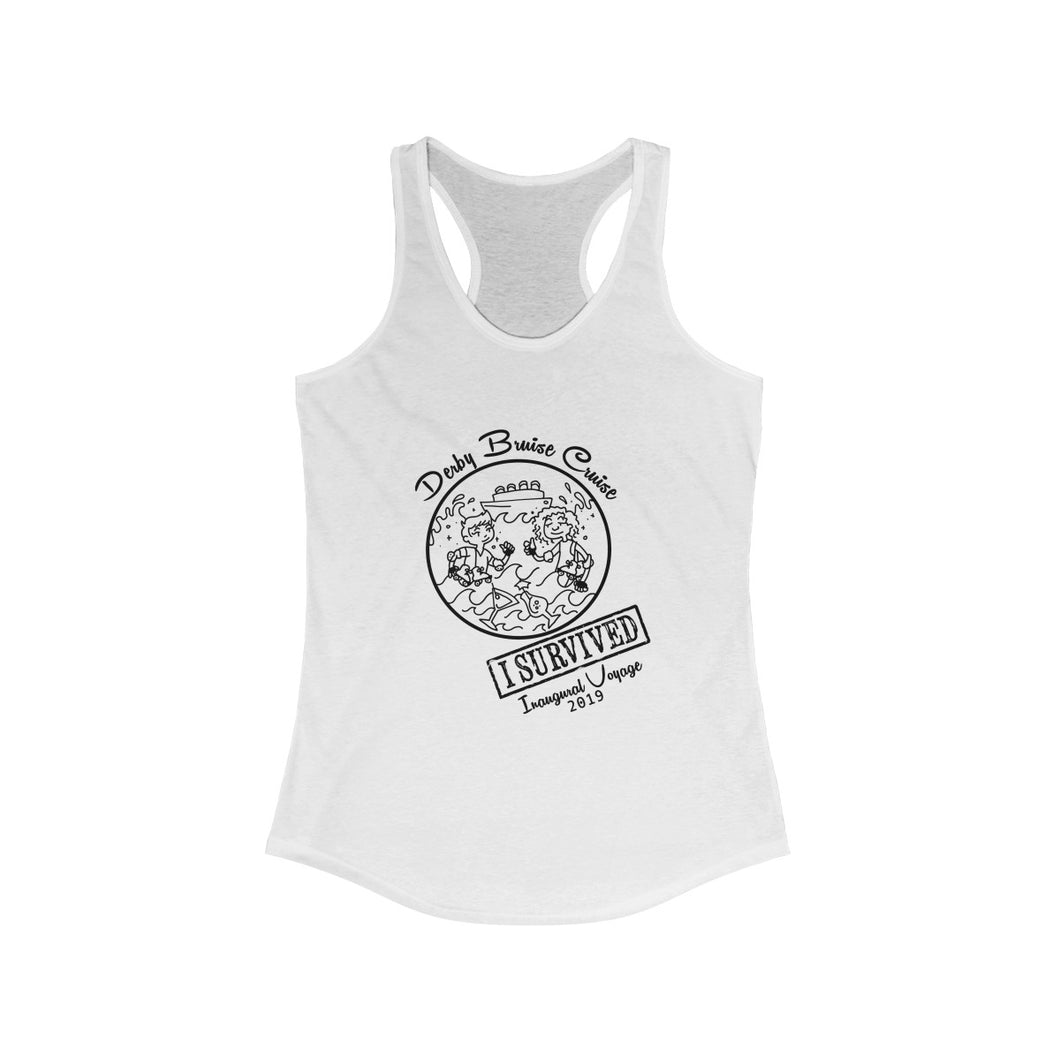 Inaugural Voyage Derby Bruise Cruise Crew Ideal Racerback Tank
