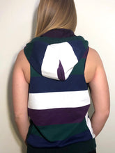 SM/MD Hood Jacket: Blue/Purple/White/Green Stripe Jacket