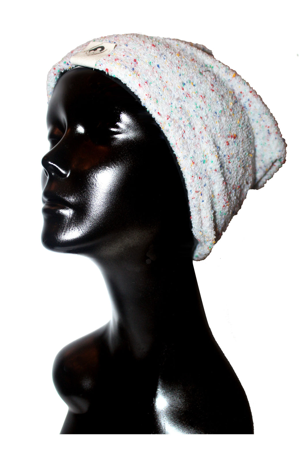 Confetti Stretch Terry Satin or Anti-Microbial Lined Slouch Beanie