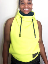 MD/LG Cowl Jacket: Neon Yellow with Heather Hunter Accents