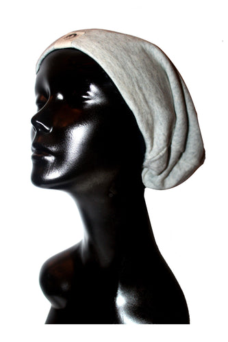 Heather Ash Knit Satin or Anti-Microbial Lined Slouch Beanie