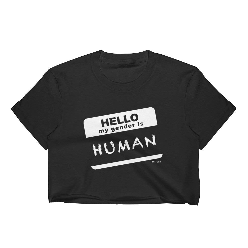 Pronoun Human - Crop Top