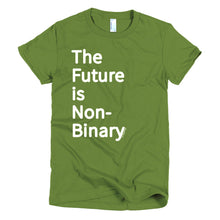 The Future is Non-Binary - Short sleeve fitted t-shirt