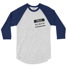 """Gender Human"" - 3/4 sleeve raglan shirt"