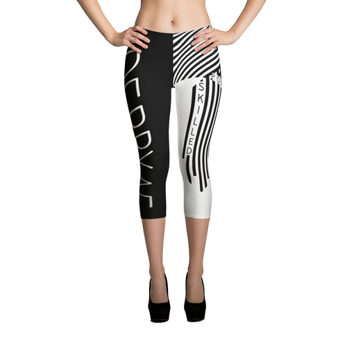 #derbyAF - Strong, Powerful, Smart, Skilled Capri Leggings
