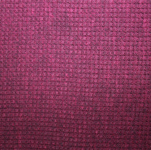 Heather Wine Thermal Cotton Knit Human Jacket