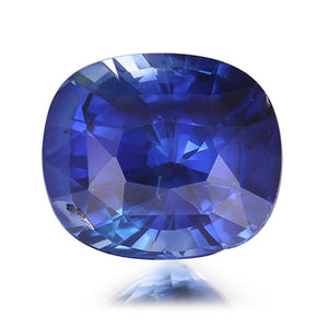 1.58 ct. Unheated Cushion Blue Sapphire