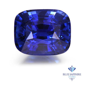 0.99 ct. Unheated Cushion Blue Sapphire