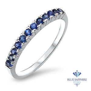 0.35ctw Blue Sapphire Ring in 18K White Gold