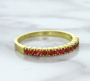 0.35ctw Round Ruby Ring in 18K Yellow Gold