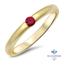 0.10ct Round Ruby Ring in 18K Yellow Gold