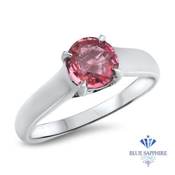 1.27ct Round Pink Sapphire Ring in 14K White Gold