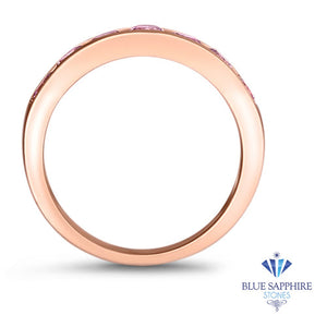 1.23ctw Round Pink Sapphire Ring in 18K Rose Gold
