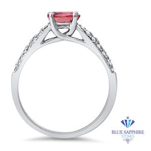 1.14ct Round Pink Sapphire Ring with Diamond Accents in 14K White Gold
