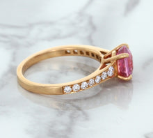 1.84ct Round Pink Sapphire Ring with Diamond Accents in 18K Rose Gold