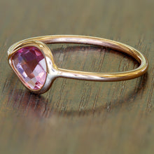 1.09ct. Pear Pink Sapphire Ring in 14K Rose Gold